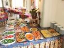 Buffet di verdure e insalate