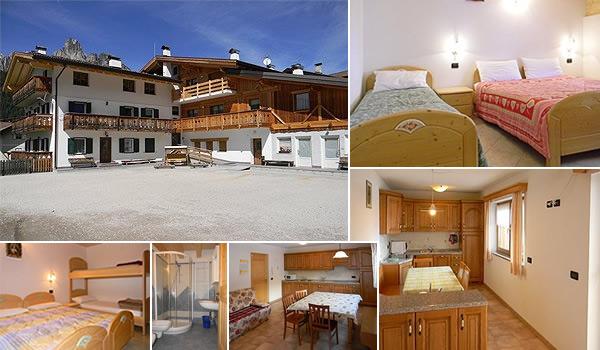 Appartamenti a Pozza di Fassa da 4 a 12 posti letto rif. 442