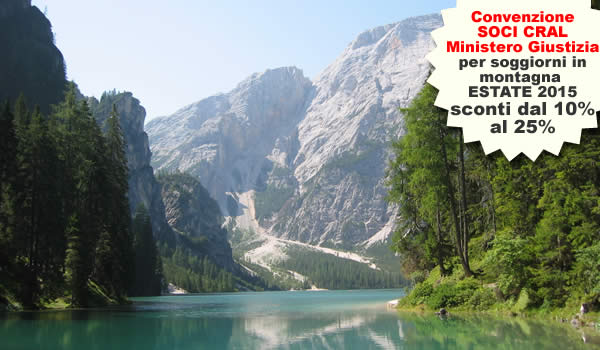 Convenzione per soggiorni in montagna SOCI CRAL del Ministero Giustizia