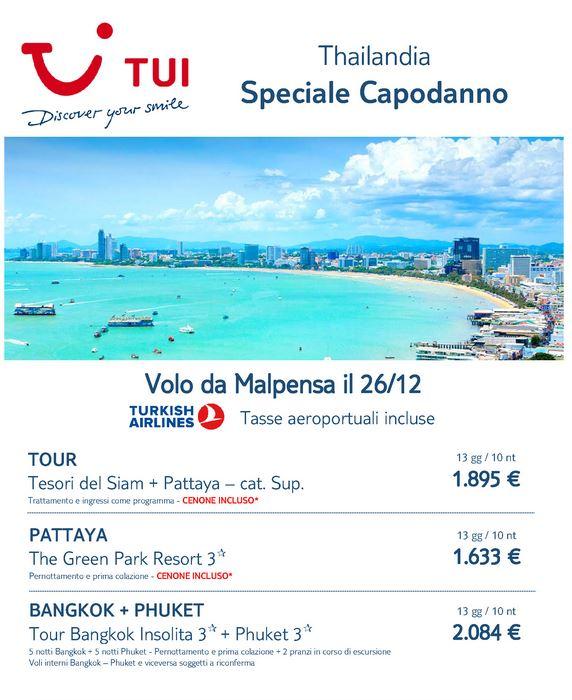 Capodanno a Pattaya in Thailandia con voli da Milano