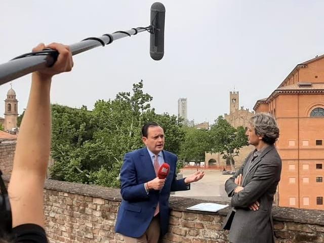 La troupe televisiva Bild a Rimini