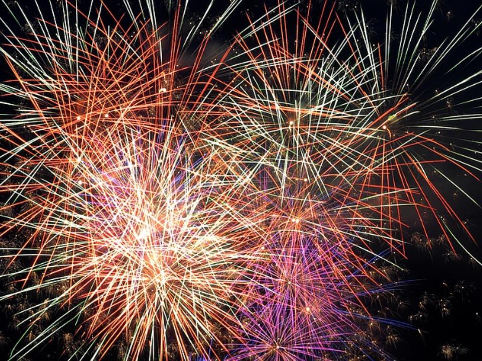 Fuochi d'artificio a Marina Romea