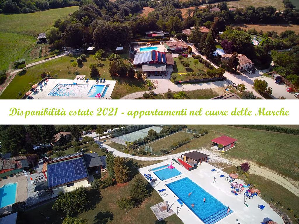 Appartamenti in agriturismo nelle Marche estate 2021